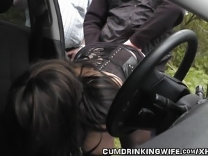 Wife gangbanged at highway rest area