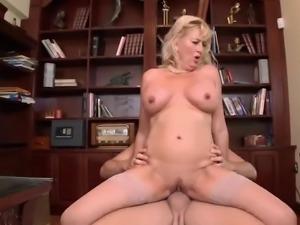 Cheating blonde housewife receives the best anal of her life