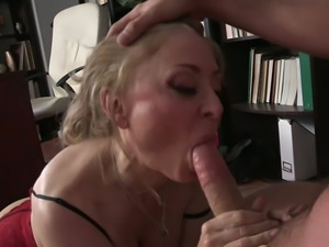 Nina Hartley is having some spontaneous sex with a young man