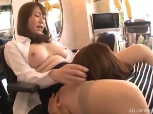 Perfect Asian brunette trying to properly impale herself on the dong