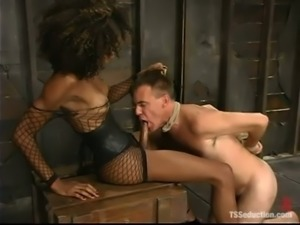 Mistress Soleli makes Wild Bill suck her BBC before she fucks his ass