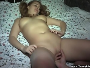 Chubby pigtailed girl Alina gets her pussy pounded by her BF Andy