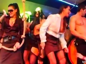 Dick-sucking ladies acting really naughty in their favorite nightclub