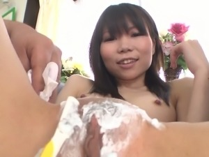 Sexy Asian creampied pussy and Asian anal hole plugged with jewel