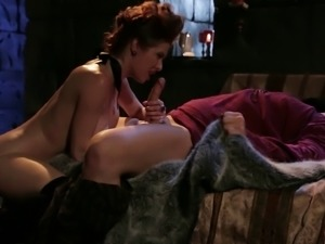 Skillful sex goddess makes a man's dong harder than ever