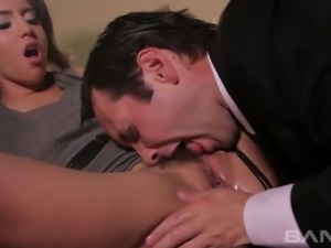 Sweet babe April O'Neil knows what it feels like to be eaten out