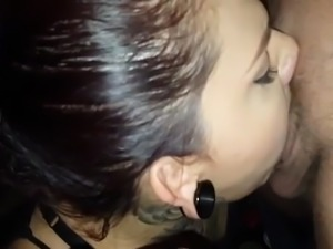 Crystal Bandida blowjob with 2 cocks