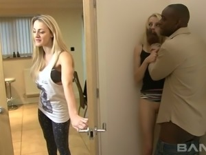 Black horny man fucks spoiled kooky of his slutty GF April Paisley tough