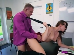 College Slut Aidra Fox Enjoys Professors Schlong