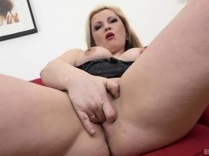 Plump blonde is in need of her randy black friend's fat dick