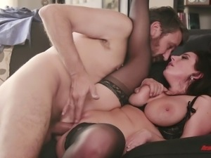Stunning busty Angela White has a blast with an experienced man