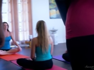 Blair Williams fucked doggystyle on a yoga session