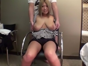 Busty Japanese chick sucks a cock before being fucked hard