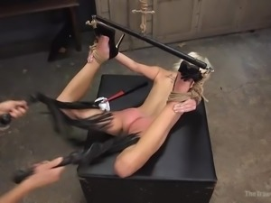 I was assigned the job of making her a perfect fuck toy. She was tied up and...