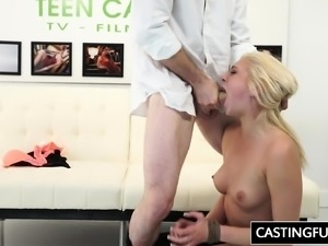 Tiffany Watson Gets The Cock At The Casting