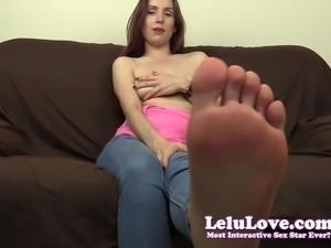 Lelu Love-Barefoot In Jeans Jerkoff Encouragement