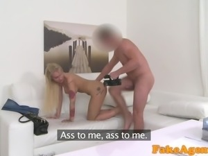 Fake Agent Agent fucks new blonde big tits model in office