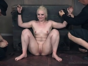 Blonde sweetheart is in need of a great BDSM sex session
