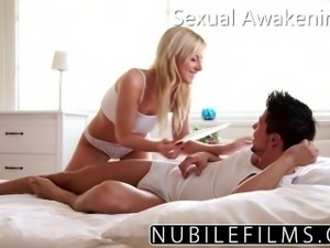 NubileFilms Horny Blonde Makes Big Brother Cum
