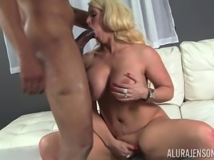 Blonde hoe Alura Jenson likes nothing like the taste of a black dick