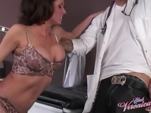 Horny MILF Veronica Avluv attacks a doctor for a fuck