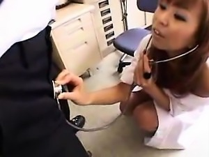 Sensual Japanese doctor with a heavenly ass loves to tease
