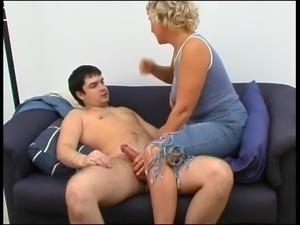 Mom fucks shy boy