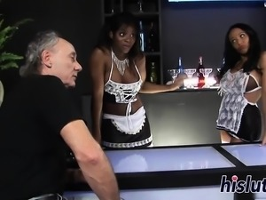 Raunchy foursome action with Romana and Jasmine