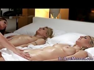 Massaged lesbian tasted