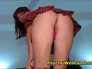 Redhead School Girl in Skirt
