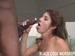 Big black cocks get my tight white pussy so wet