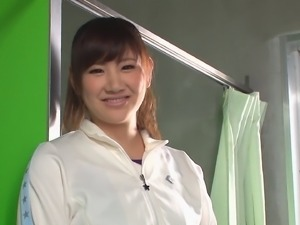 Adoring brunette Japanese seduced by a randy fellow