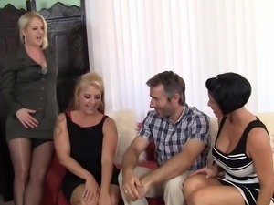 Group Sex with Hot Cougar MILFs