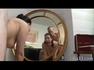Gagged british milf assfucked while tiedup