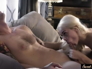 Gorgeous stepdaughter fucking her stepdad