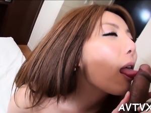Sweet oriental receives deep fucking after wet oral pleasure