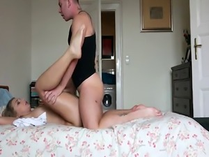 Slutty Euro babe Haley Hill cute ass fucked from behind