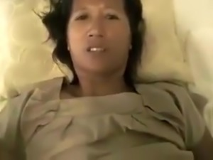 Mature Oriental woman pounded hard in missionary