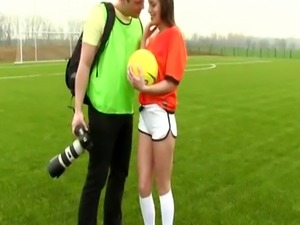 Teen blindfolded for crony Dutch football player plumbed by photograph