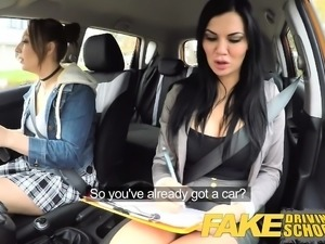 Fake Driving School Daddys girl fails her test