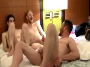 Young long haired guys fisting gay While they share fuck-a-thon storie