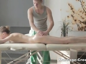 Russian blonde take a special massage