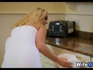 Bored Blonde Wife Cheats on Her Husband