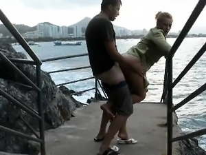 Real amateur couple fucking on the beach