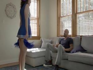 Cheerleading teen jizzed