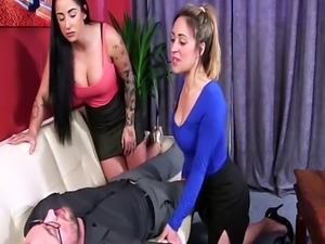 Clothed femdom brits jerk