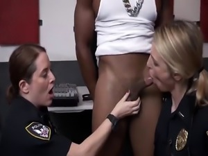 BBC fucking hard two slutty police officers
