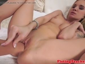 Smalltit model fisted after sixtynine