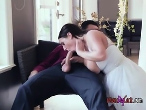 Chesty Bride Angela White Gets Fucked And Creamed