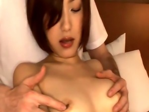 Japanese beauty jizzed in mouth after fucking